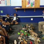 Mike giving an 'Animal Storytelling ' workshop at the UniZulu Science Centre during ZulFest in May 2017.