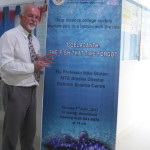 Mike after giving a lecture on the coelacanth at the University of Bahrain in 2012.