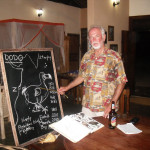 Mike giving an informal talk on the dodo in Zanzibar, December 2013.