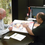 Mike meeting with a client during the development of the 'Museum of Science and Technology in Islam' at the King Abdullah University of Science & Technology in Saudi Arabia, while in the employment of MTE Studios.