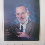 Portrait of Mike at the Angling Museum that he established in Knysna in 1993.